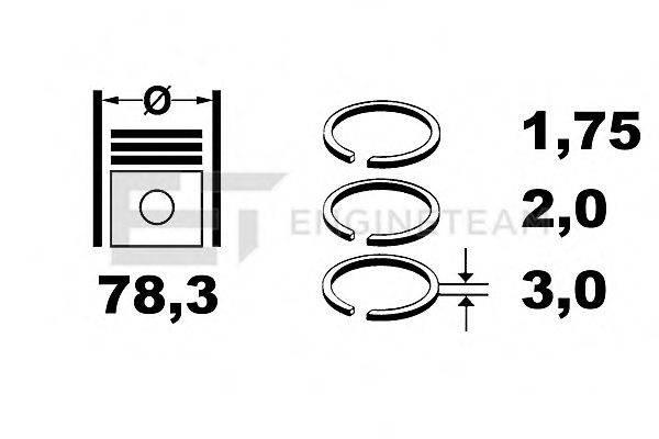 ET ENGINETEAM R1007700 Кольца поршневые на цилиндр