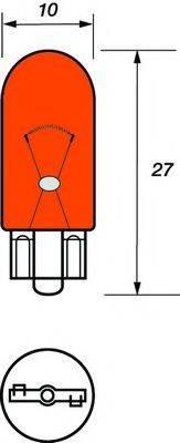 MOTAQUIP VBU501A Лампа накаливания, фонарь указателя поворота; Лампа накаливания, стояночный / габаритный огонь; Лампа, мигающие / габаритные огни