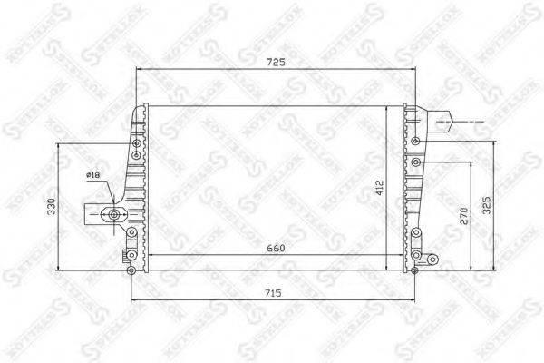 STELLOX 1040104SX Охладитель наддувочного воздуха