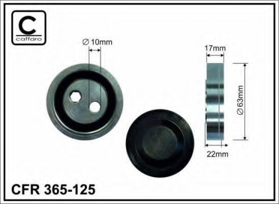 CAFFARO 365125 Натяжной ролик, поликлиновой  ремень