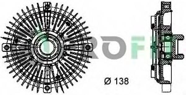 PROFIT 17201010 Сцепление вентилятора радиатора