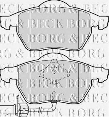 BORG & BECK BBP1766 Колодки тормозные