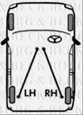 BORG & BECK BKB2833 Трос, стояночная тормозная система