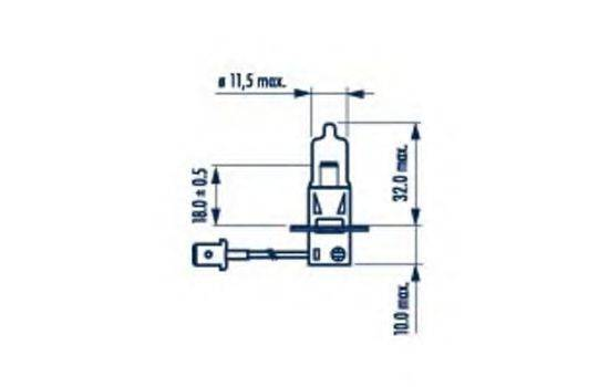 NARVA 48321 Лампа накаливания, фара дальнего света; Лампа накаливания, основная фара; Лампа накаливания, противотуманная фара; Лампа накаливания, основная фара; Лампа накаливания, фара дальнего света; Лампа накаливания, противотуманная фара; Лампа накаливания, фара с авт. системой стабилизации; Лампа накаливания, фара с авт. системой стабилизации
