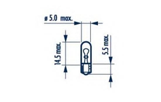 NARVA 17073 Лампа накаливания, oсвещение салона; Лампа накаливания, фонарь установленный в двери; Лампа накаливания, дополнительный фонарь сигнала торможения; Лампа, страховочное освещение двери; Лампа, входное освещение