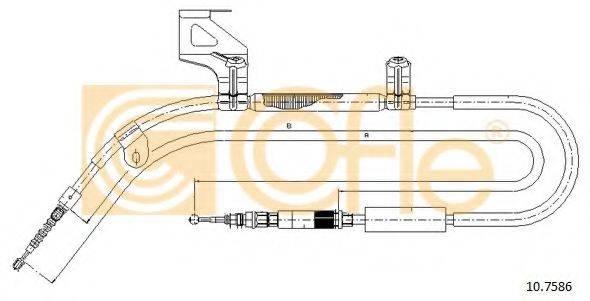 COFLE 107586 Трос, стояночная тормозная система