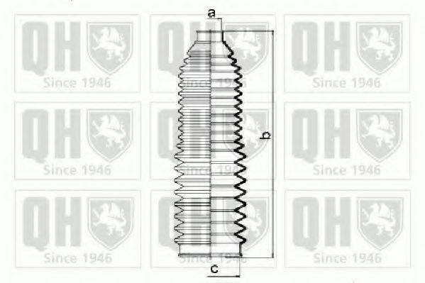 QUINTON HAZELL QG1422 Пыльник рулевой рейки