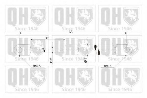 QUINTON HAZELL QTS128523 Газовый упор (пружина) багажника