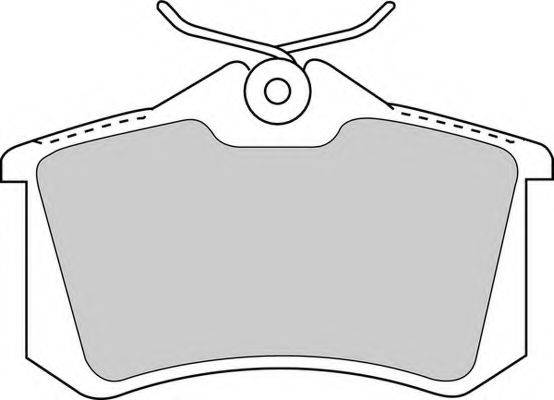FERODO FDB1788 Колодки тормозные
