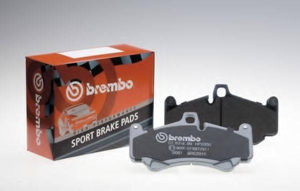BREMBO 07B31525 Комплект высокоэффективных тормозных колодок