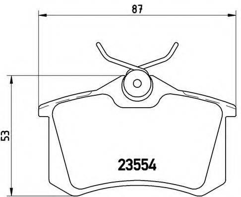 BREMBO P85017 Колодки тормозные