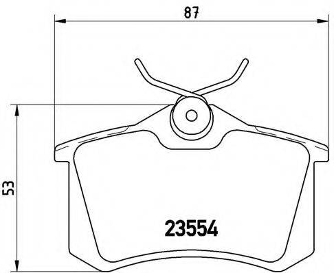 BREMBO P85020 Колодки тормозные