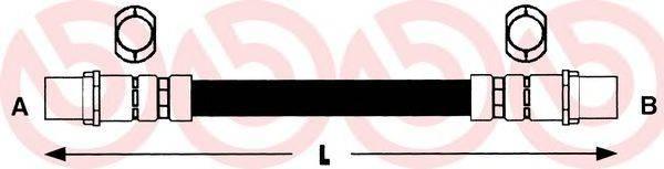 BREMBO T85040 Шланг тормозной