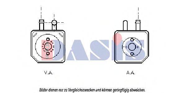 AKS DASIS 046004N Радиатор масляный