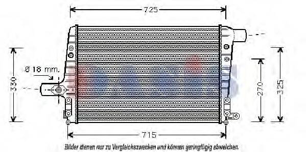 AKS DASIS 487060N Охладитель наддувочного воздуха