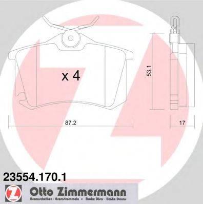 ZIMMERMANN 235541701 Колодки тормозные
