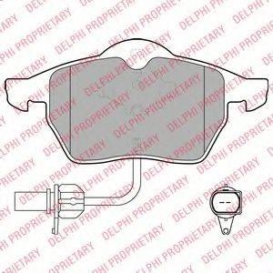 DELPHI LP1672 Колодки тормозные