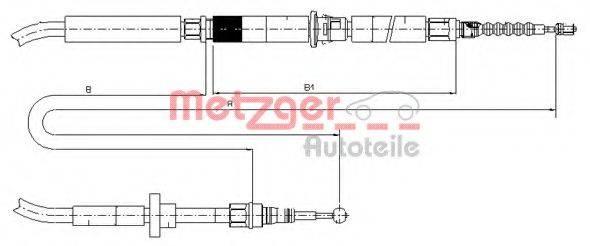 METZGER 107589 Трос, стояночная тормозная система
