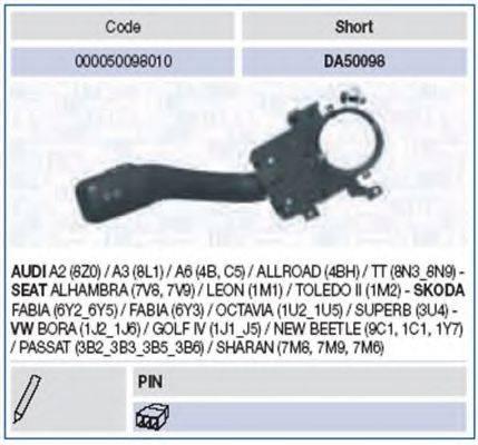 MAGNETI MARELLI 000050098010 Выключатель на колонке рулевого управления